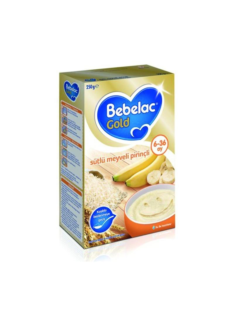 Bebelac Gold Sütlü Meyveli Pirinçli 250 g.