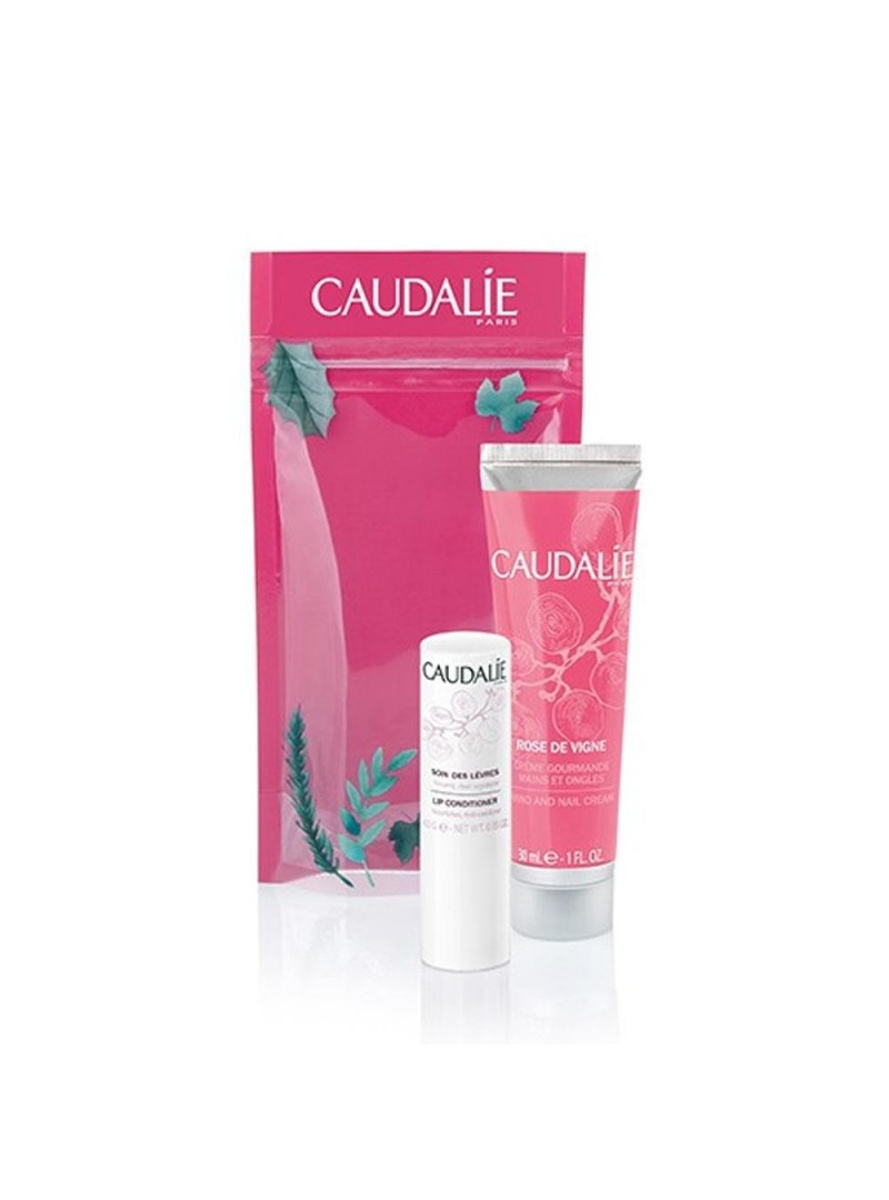 Caudalie Rose De Vigne Hand and Nail Cream 30ml Lip Conditioner 4.5gr