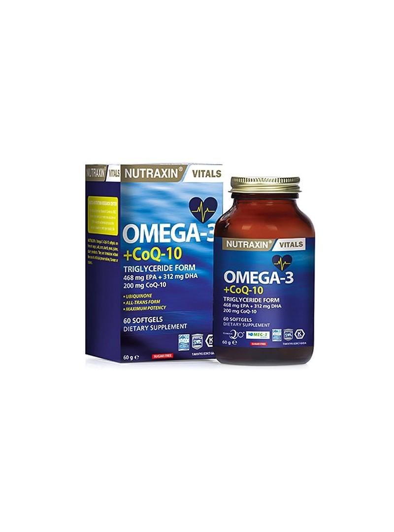 Nutraxin Omega 3 + CoQ-10 60 Kapsül