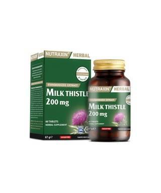 Nutraxin Herbal Milk Thistle 200mg 60 Kapsül
