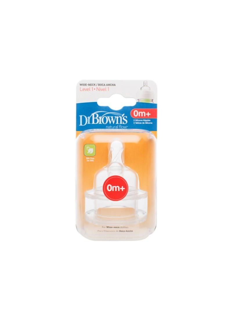 Dr. Browns Doğal Akış Geniş Ağız Biberon Emziği 0Ay+