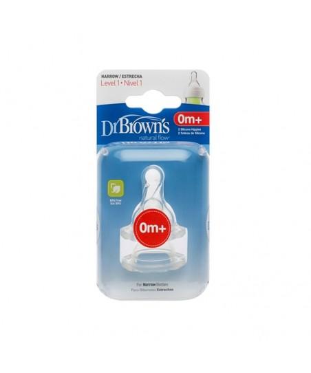 Dr Browns Biberon Emziği Geniş Ağız NO 1 (2 Adet)