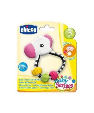 Chicco Baby Senses Line Kolay Kavranan Çıngırak Zebra