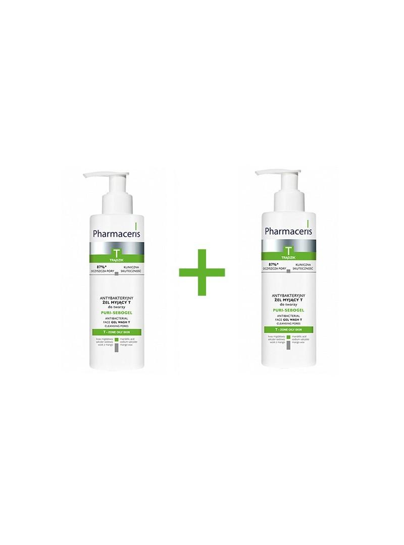 Pharmaceris T - Puri Sebogel Antibacterial Face Gel-Wash - 190ml - 1+1