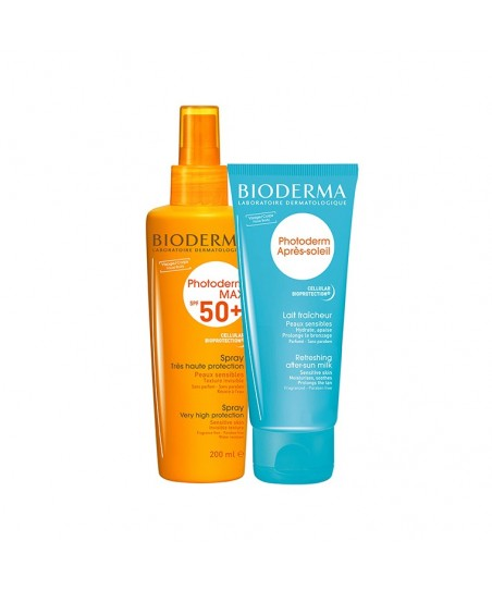 Bioderma Photoderm Max Spray Spf50 200ml + After Sun Milk 100ml HEDİYE!