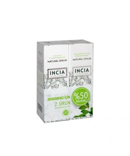 Incia Kaş ve Kirpik Güçlendirici Serum 10ml + Tırnak Güçlendirici Serum 10ml