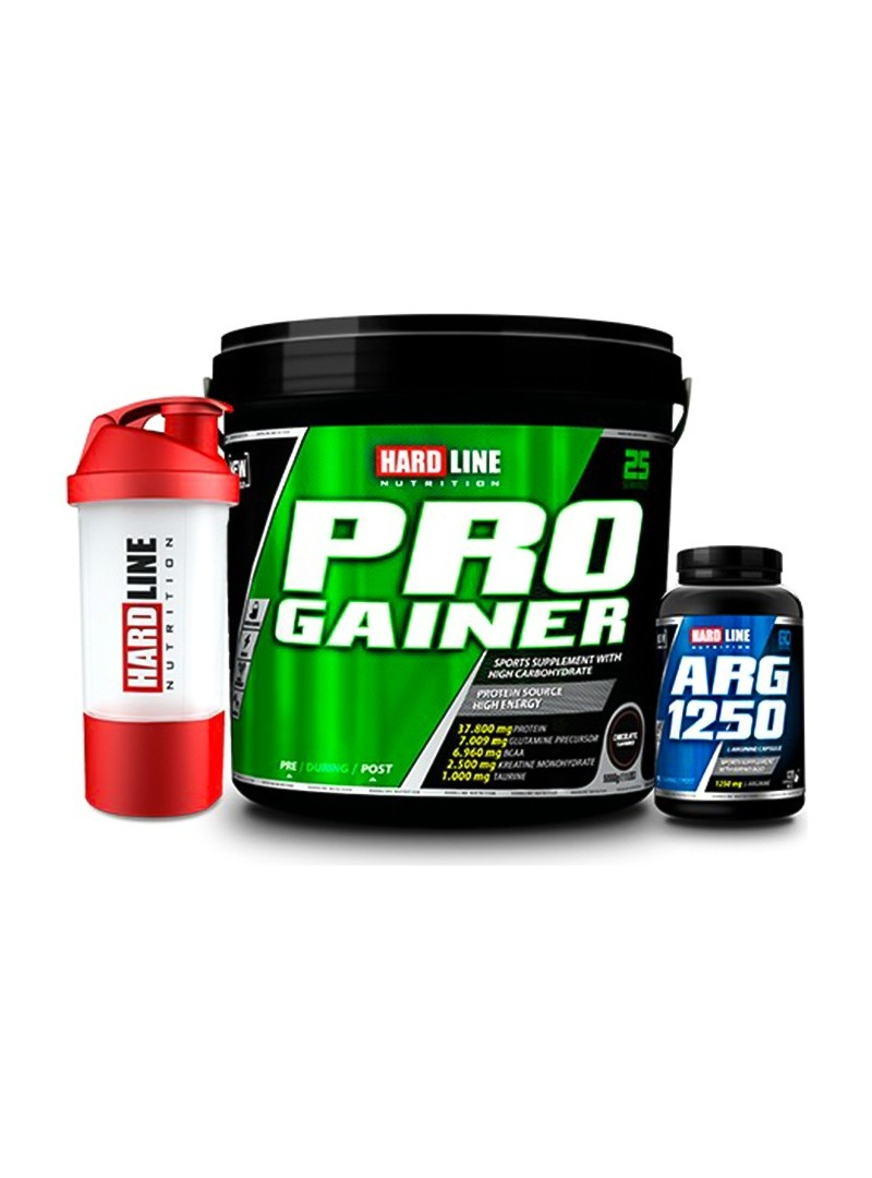 Hardline Nutrition Progainer Çikolata 5000 Gr + Arg 1250 120 Kapsül + Shaker