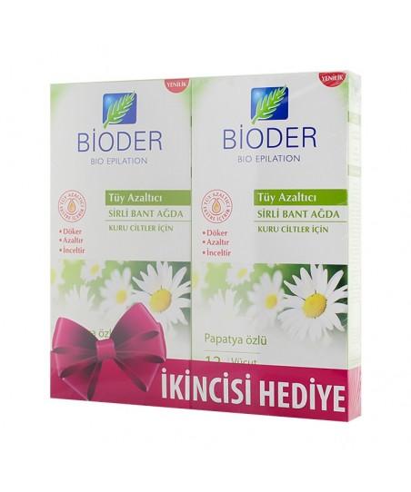 Bioder Epiten Tüy Azaltıcı Sirli Bant Ağda - Vücut (Kuru Ciltler İçin)