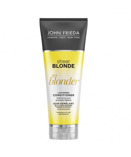 John Frieda Sheer Blonde Go Blonder Lightening Conditioner 250 ml Sarı Saçlara Özel Güneş Işıltısı Veren Bakım Kremi