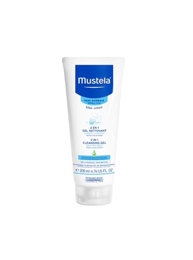 Mustela 2 in 1 Cleansing Gel 200 ml Saç Ve Vücut Şampuanı