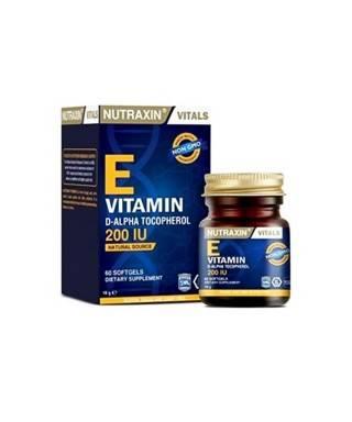 Nutraxin Vitamin E 200 IU 60 Kapsül