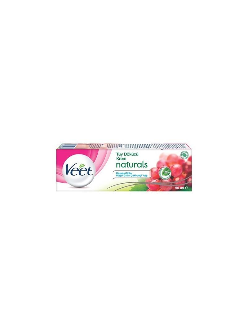 OUTLET - Veet Tüy Dökücü Krem Naturals Doğal Üzüm Çekirdeği Yağı 90 ml