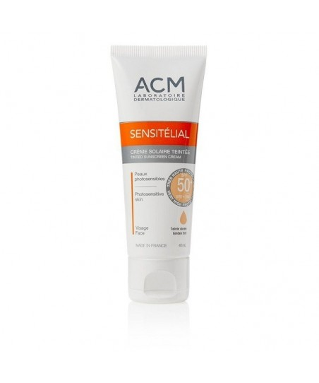 ACM Sensitelial Sunscreen Cream SPF 50+ Golden Tint 40 ml