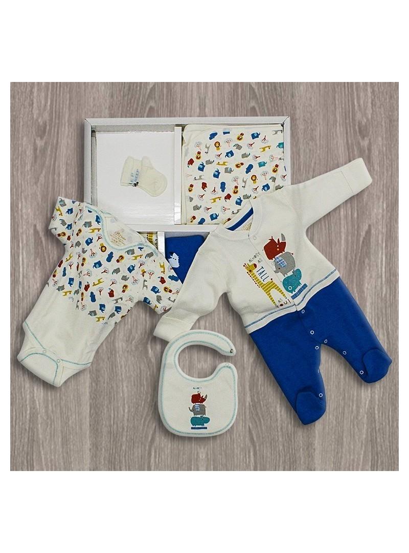 OUTLET - Aziz Bebe Fil Desenli 10'lu Yeni Doğan Bebek Seti
