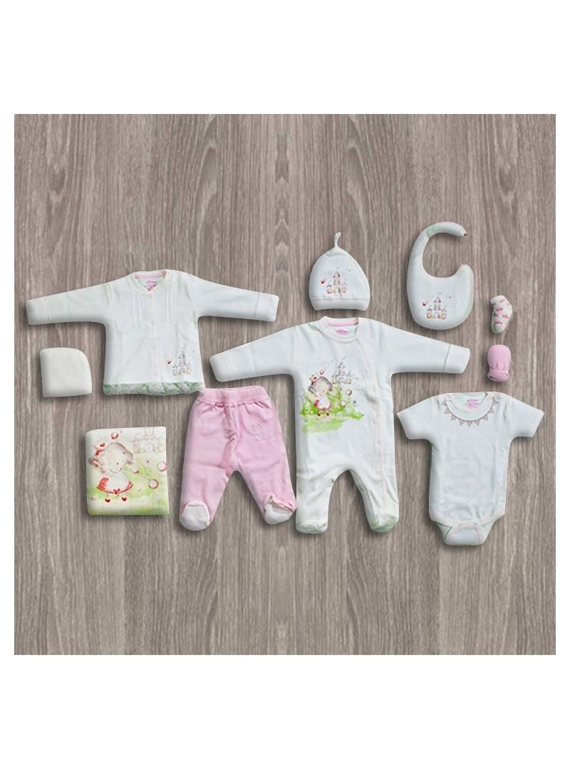 OUTLET - Aziz Bebe Triko 10'lu Yeni Doğan Bebek Seti