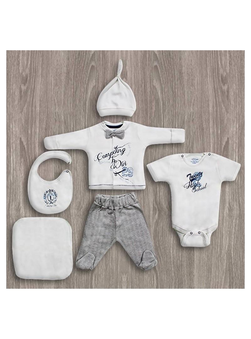 OUTLET - Aziz Bebe Fiyonklu 6'lı Yeni Doğan Bebek Seti
