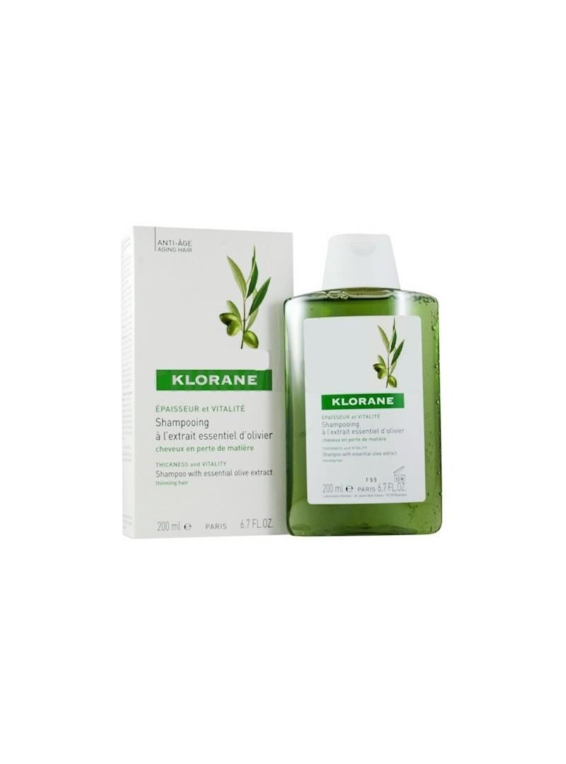 OUTLET - Klorane Oliver Shampoo 200 ml Zeytin Ekstreli Yaşlanma Karşıtı Bakım Şampuanı