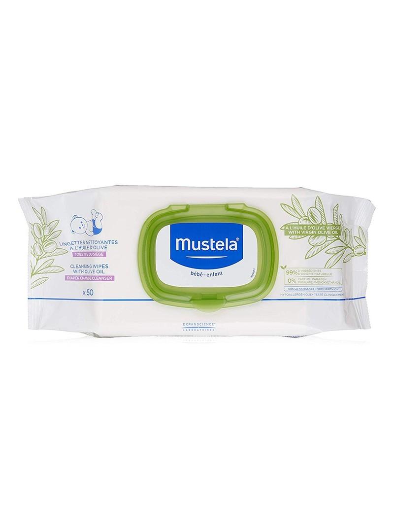 Mustela Cleansing Wipes Zeytinyağlı Islak Mendil 50 Adet