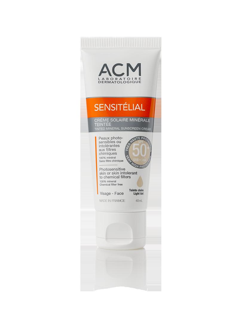 Acm Sensitelial Tinted Mineral Sunscreen Cream SPF50+ Açık Renk 40 ml