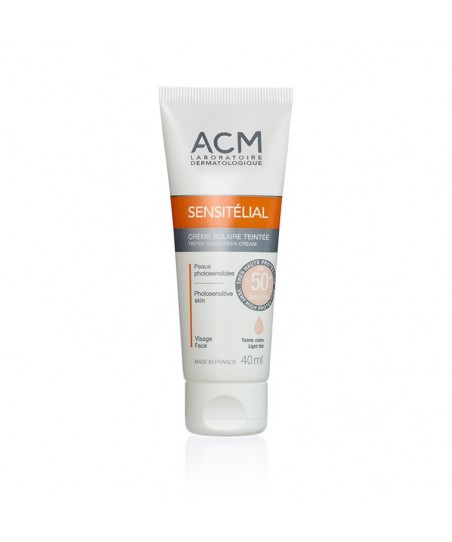 Acm Sensitelial Tinted Sunscreen Cream SPF50+ Light Tinted 40 ml