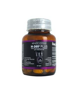 Hair 360 Plus Saw Palmetto ve Biotin 60 Tablet