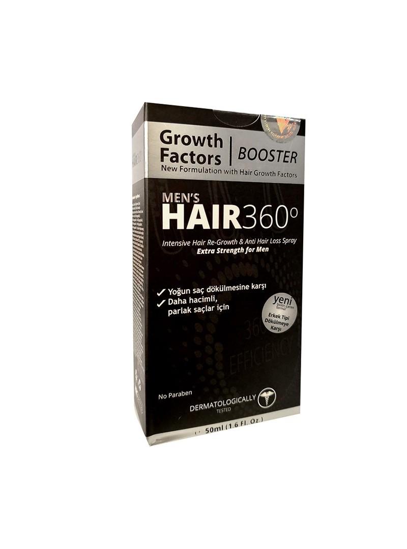 Hair 360 Booster Mens Hair Spray 50ml - Erkekler için Saç Spreyi