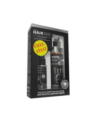 Hair 360 Men Sprey 50ml + Hair 360 İntensive Hair Loss Shampoo 200ml Hediye