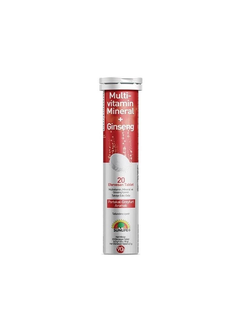 Sunlife Multivitamin + Mineral + Ginseng Efervesan 20 Tablet