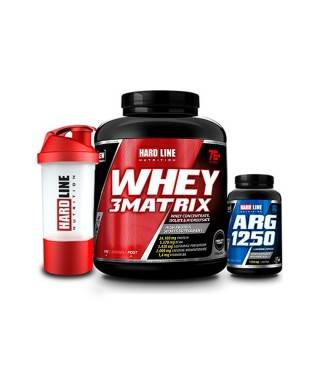 Hardline Nutrition Whey 3 Matrix Protein Tozu Çikolata 2300 Gr + Arg 1250 120 Kapsül + Shaker