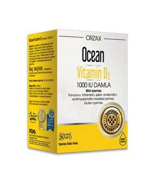 Orzax Ocean Vitamin D3 1000 IU 50ml