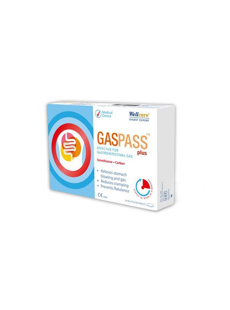 Wellcare Gaspass Plus 20 Tablet