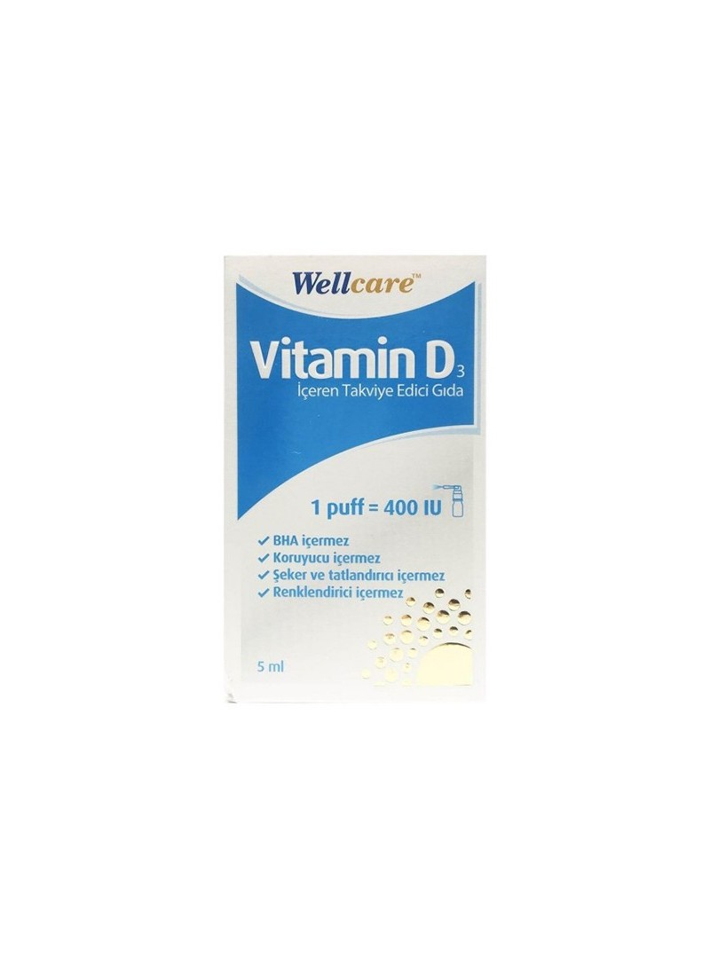 Wellcare Vitamin D3 400 IU 5ml