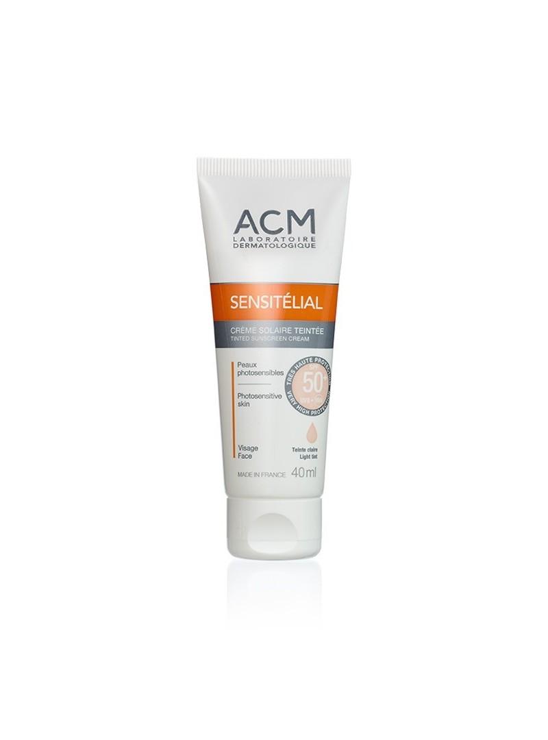 OUTLET - Acm Sensitelial Tinted Sunscreen Cream SPF50+ Light Tinted 40 ml