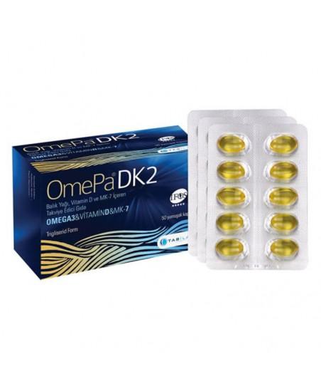 Omepa DK2 Omega 3 & Vitamin D & MENAQ7 50 Yumuşak Kapsül