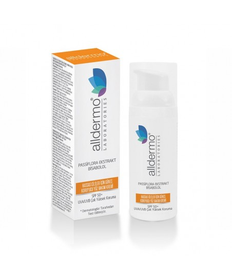 Alldermo Hassas Ciltler için Güneş Koruyucu Yüz Bakım Kremi SPF50+ 50 ml
