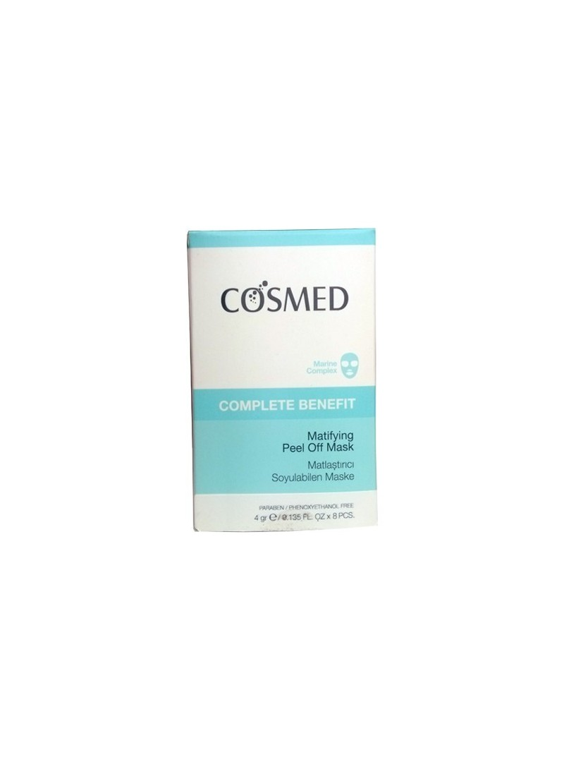 OUTLET - Cosmed Complete Benefit Matifying Peel Off Mask 8x4 ml Matlaştırıcı Soyulabilen Maske