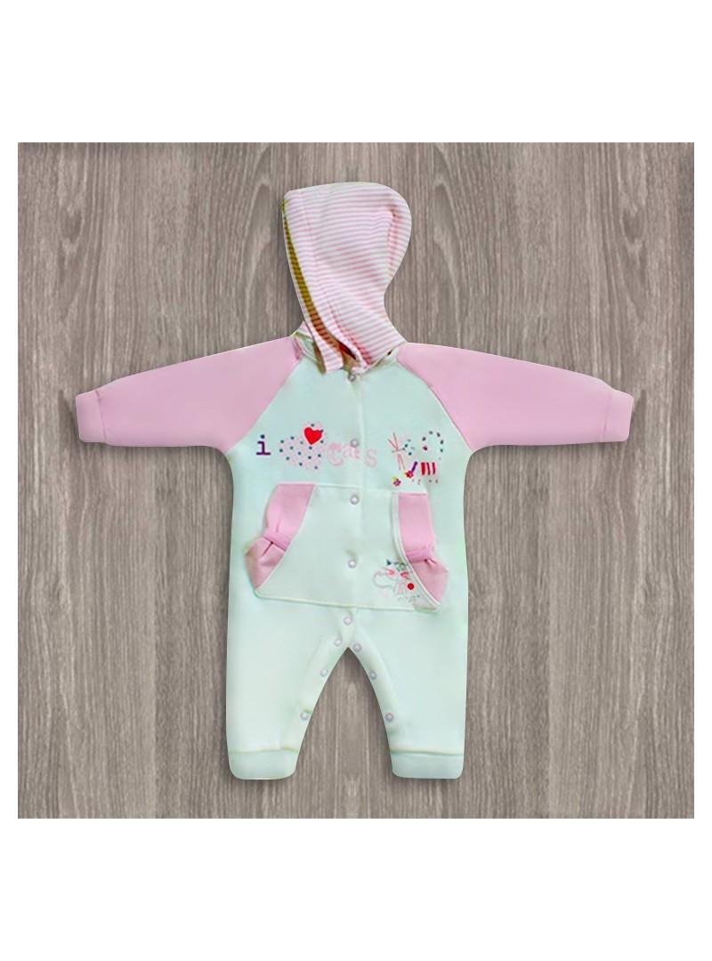 OUTLET - Aziz Bebe Kapşonlu Bebek Tulumu