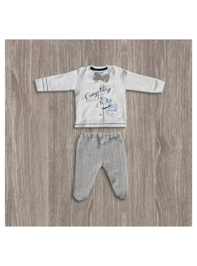 OUTLET - Aziz Bebe Papyonlu 2li Erkek Takımı