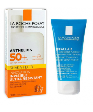 La Roche Posay Anthelios Shaka Fluid 50ml+Effaclar Gel 50ml