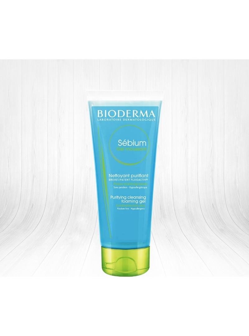Bioderma Sebium Gel Moussant 45ml - Yağlı ve Akneli Ciltler için Yüz Temizleme Jeli