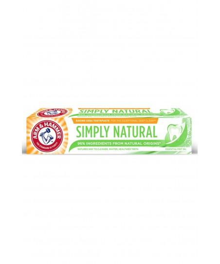 Arm&Hammer - Simply Natural Toothpaste - Doğal Kökenli İçerikler & Beyazlatıcı Diş Macunu 75ml