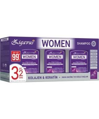 Zigavus Women Kolajen ve Keratin Şampuan 300 ml | 3 AL 2 ÖDE