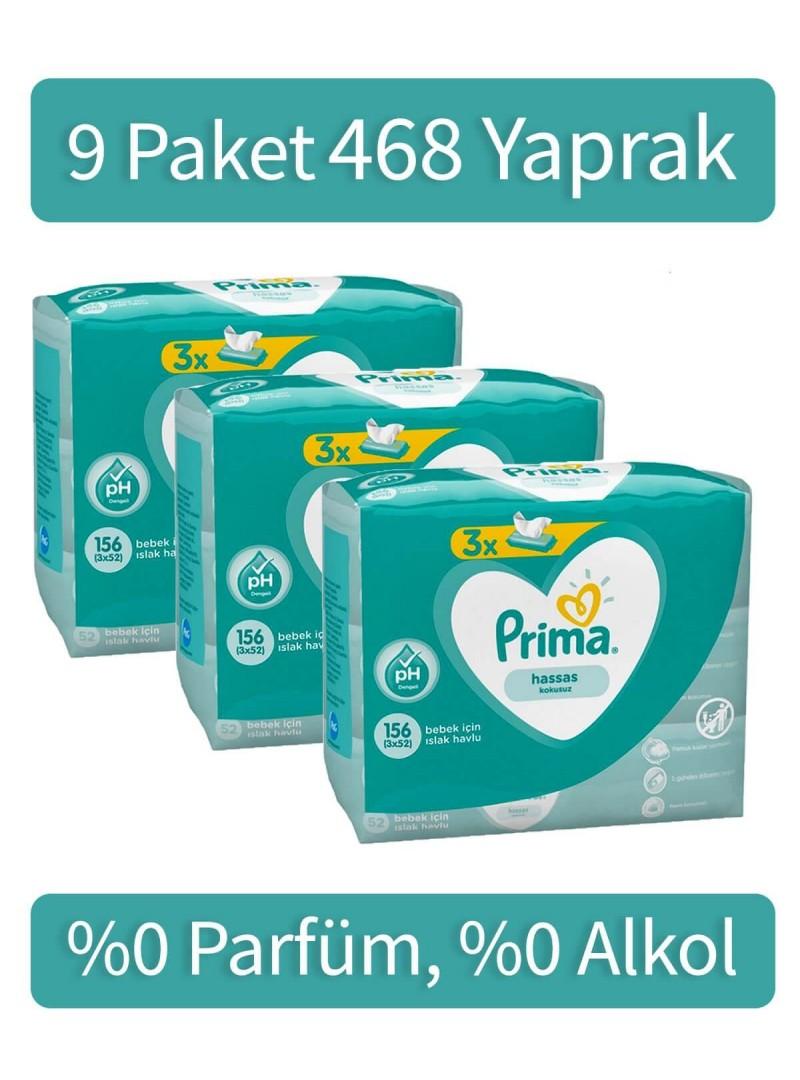 Prima Islak Havlu Fresh 9x52'li Mega
