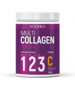 Voonka Multi Collagen Powder Vitamin C İçeren Takviye Edici Gıda 300 gr.