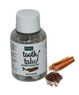 Herbatech Tooth Tabs Tarçın Karanfil Diş Temizleme Tableti 90 Adet