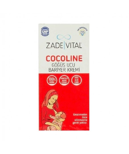 Zade Vital Cocoline Göğüs Ucu Bariyer Kremi 35 ml