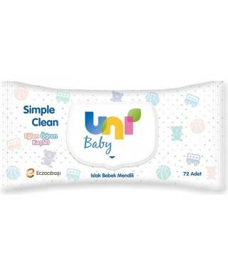 Uni Baby Simple Clean Islak Bebek Mendili 72 Adet