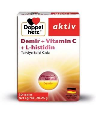 Doppel Herz Aktiv Demir + Vitamin C + L-Histidin 30 Tablet