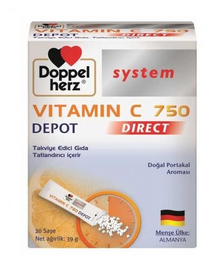 Doppelherz System Vitamin C 750 Depot Direct 20 Saşe