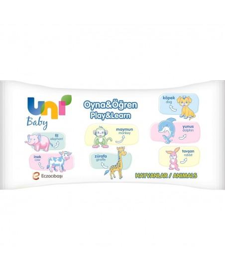 Uni Baby Islak Mendil Oyna & Öğren 52 Adet